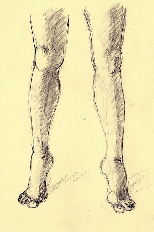 521x788 Figure Drawing How To Draw A Person Standing And Walking On Tiptoe