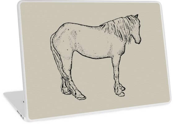 558x400 Horse Drawing Standing Horse, Outline Art Equine Art Laptop