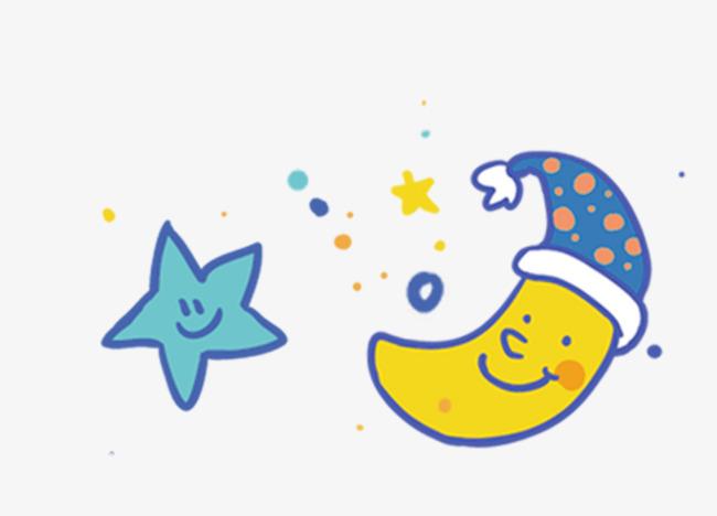 650x468 Decorative Cartoon Moon Stars, Cartoon Hand Drawing, Decorative