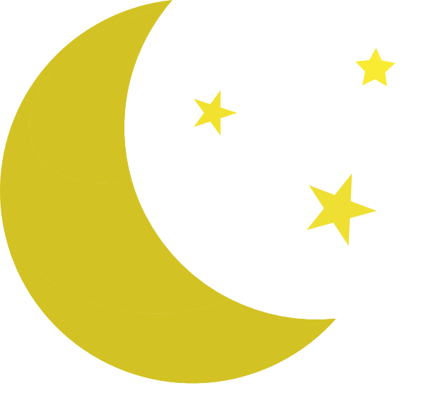 600x566 Moon And Stars Clip Art