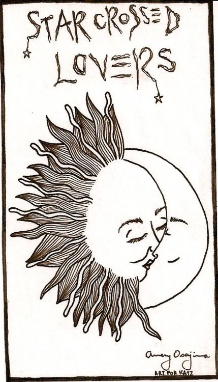429x750 Nice Simple Drawing Of The Sun And Moon As Star Crossed Lovers