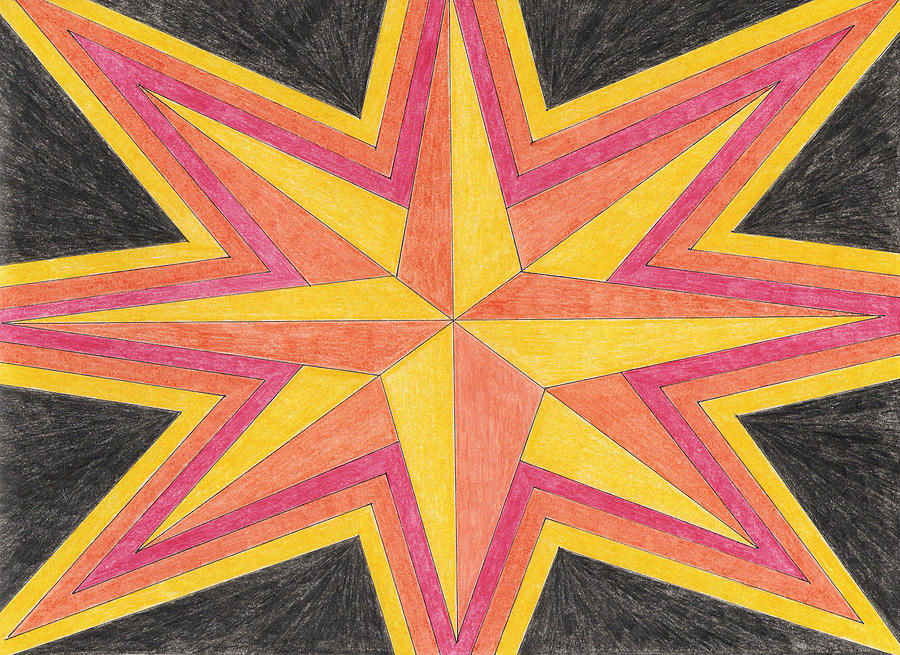 900x655 Starburst 2 Drawing By Eric Forster