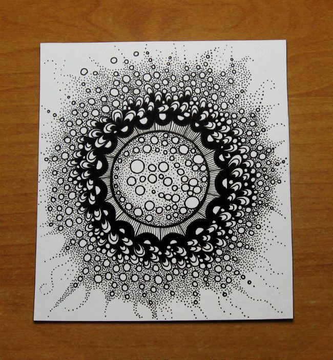 650x702 Starburst Abstract Doodle Zentangle Ideas Doodles