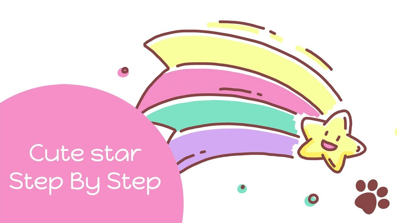 1280x720 How To Draw A Cute Shooting Star Cute Cartoon Drawing Easy