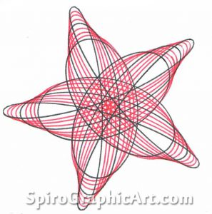 297x300 Drawing The 5 Pointed Star Spirographicart