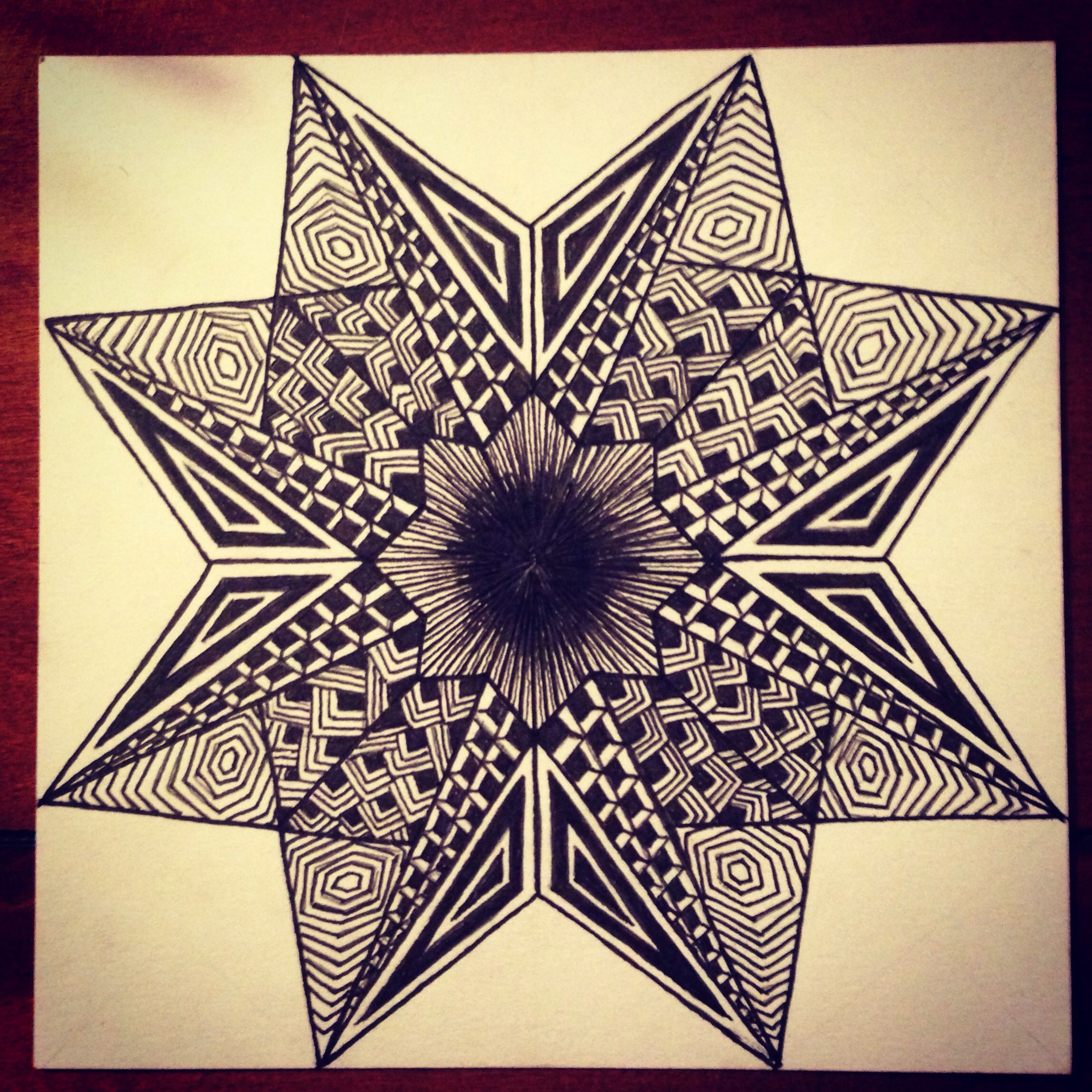2300x2300 Geo Star Design Zentangle My Doodles Amp Drawings
