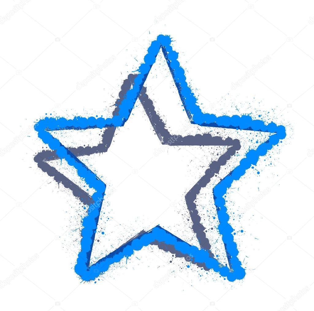 1024x1013 Grunge Star Design Shape Stock Vector Baavli