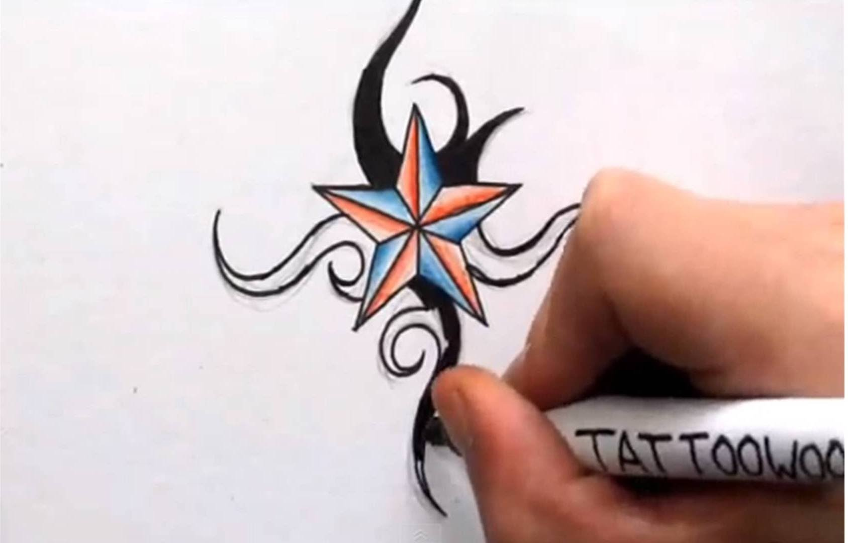 1687x1080 How To Draw A Nautical Star