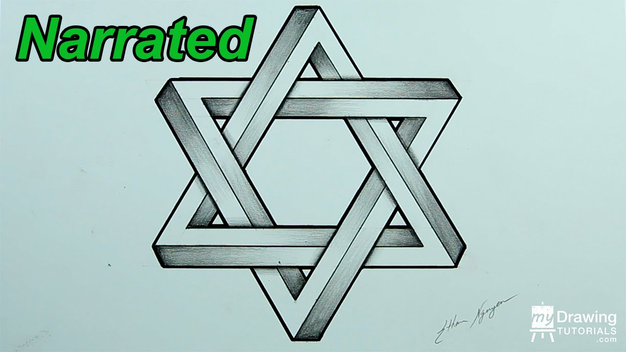 1280x720 How To Draw An Impossible Star Of David