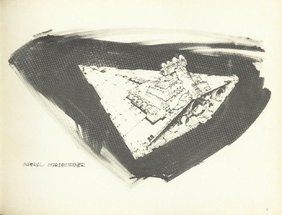 904x692 Imperial Star Destroyer Sketch (Joe Johnston