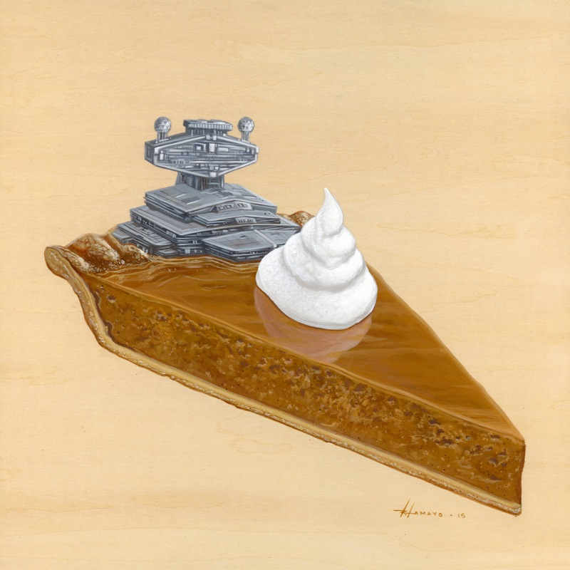 800x800 Super Cheesy Star Destroyer Pumpkin Pie By Roland Tamayo