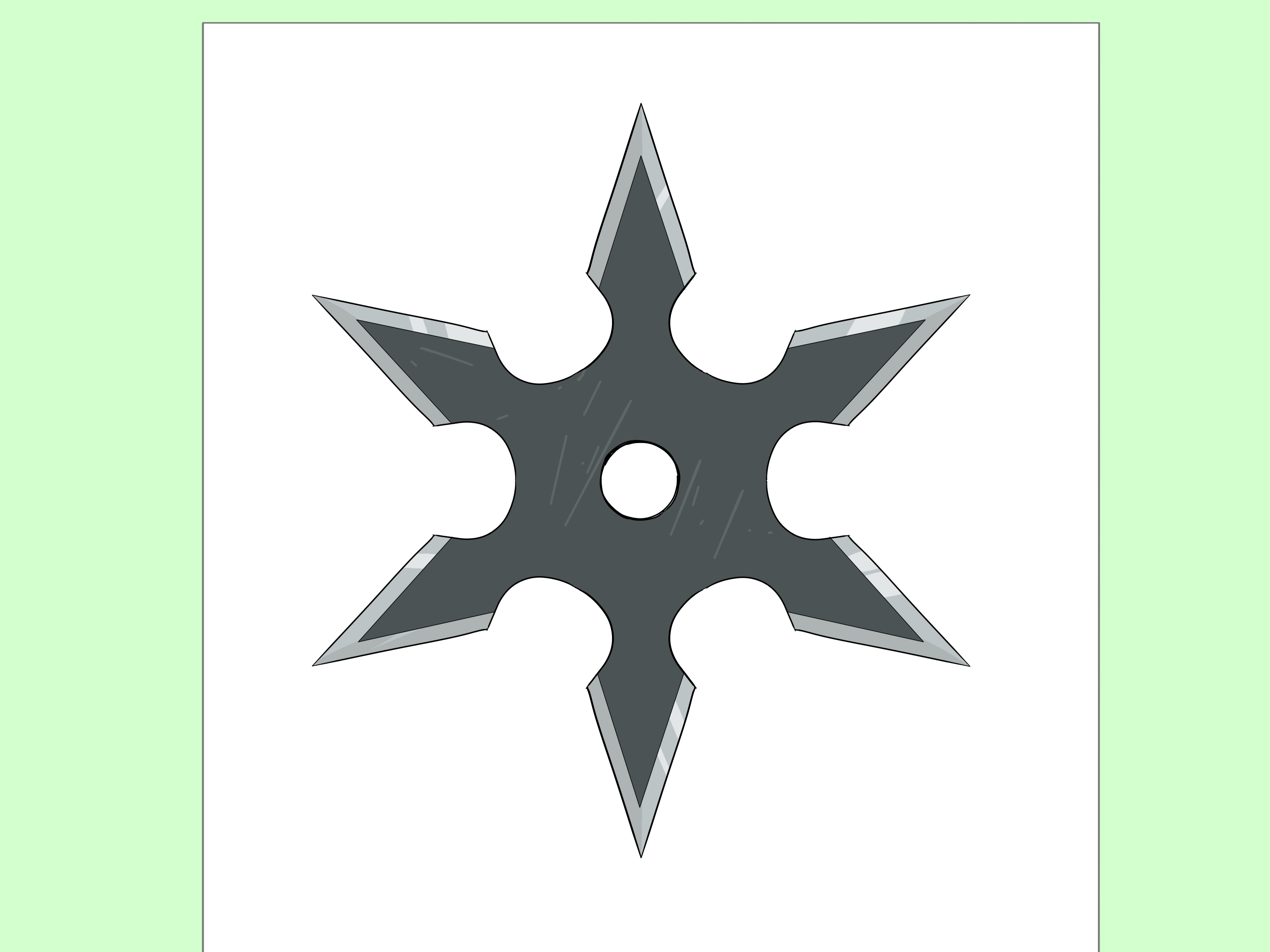 3200x2400 How To Draw A Ninja Star 14 Steps (With Pictures)