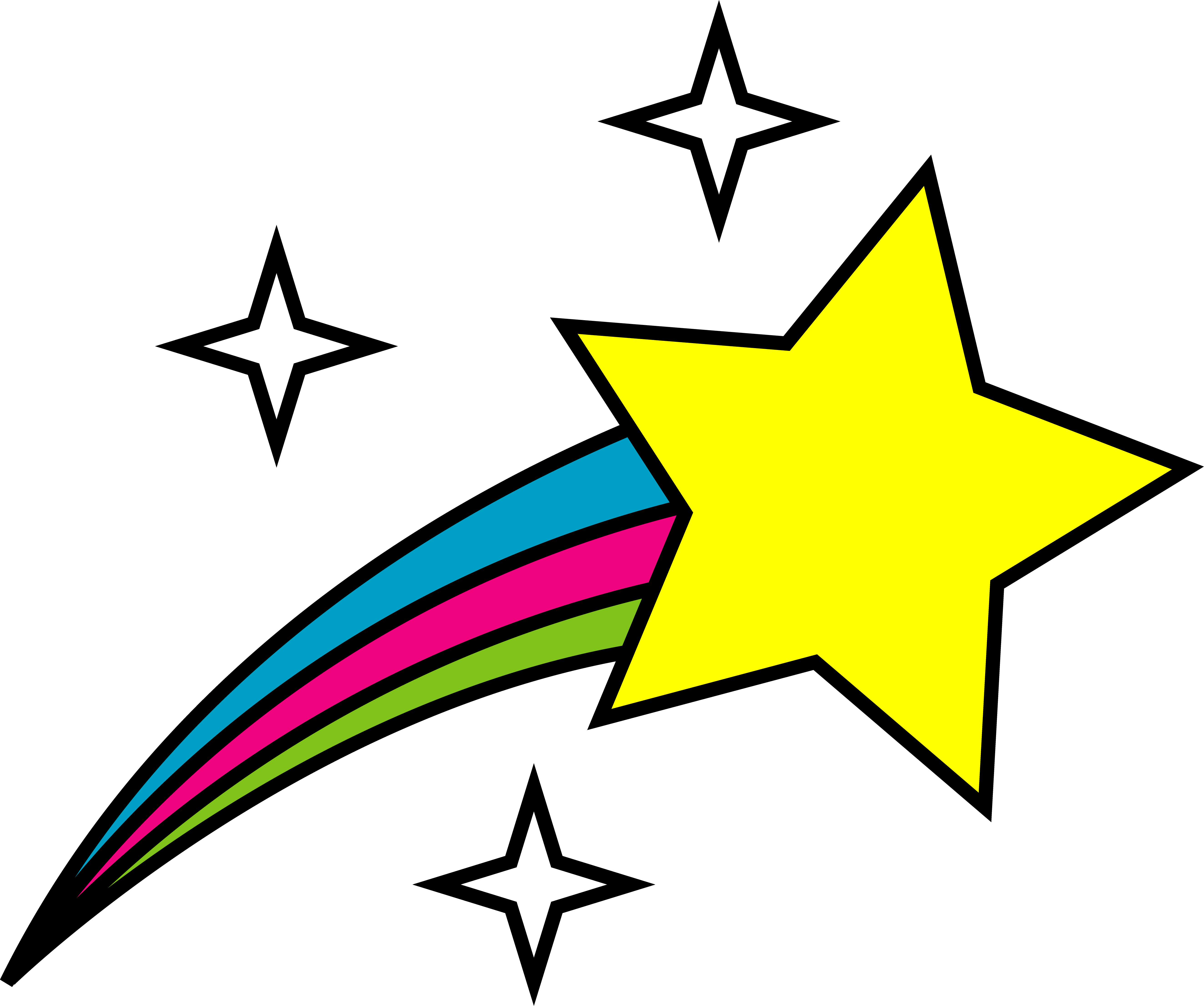 5292x4424 Outer Space Shooting Star