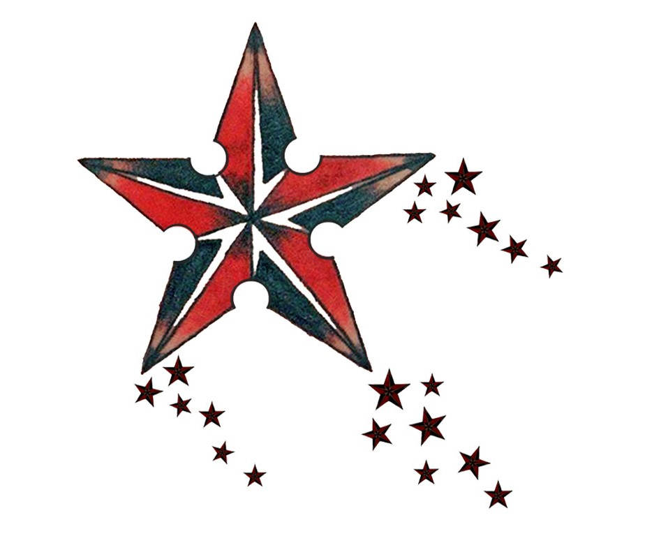 924x768 Nautical Star Tattoos Designs