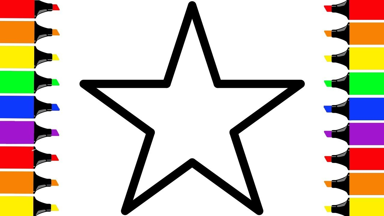 1280x720 How To Draw A Star! Colorful Stars For Babies Coloring