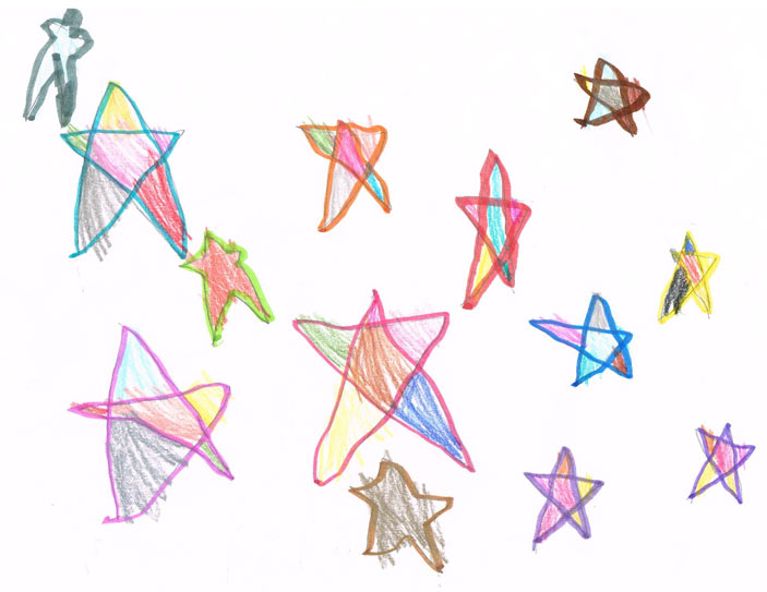 703x543 How To Draw A Star For Kids
