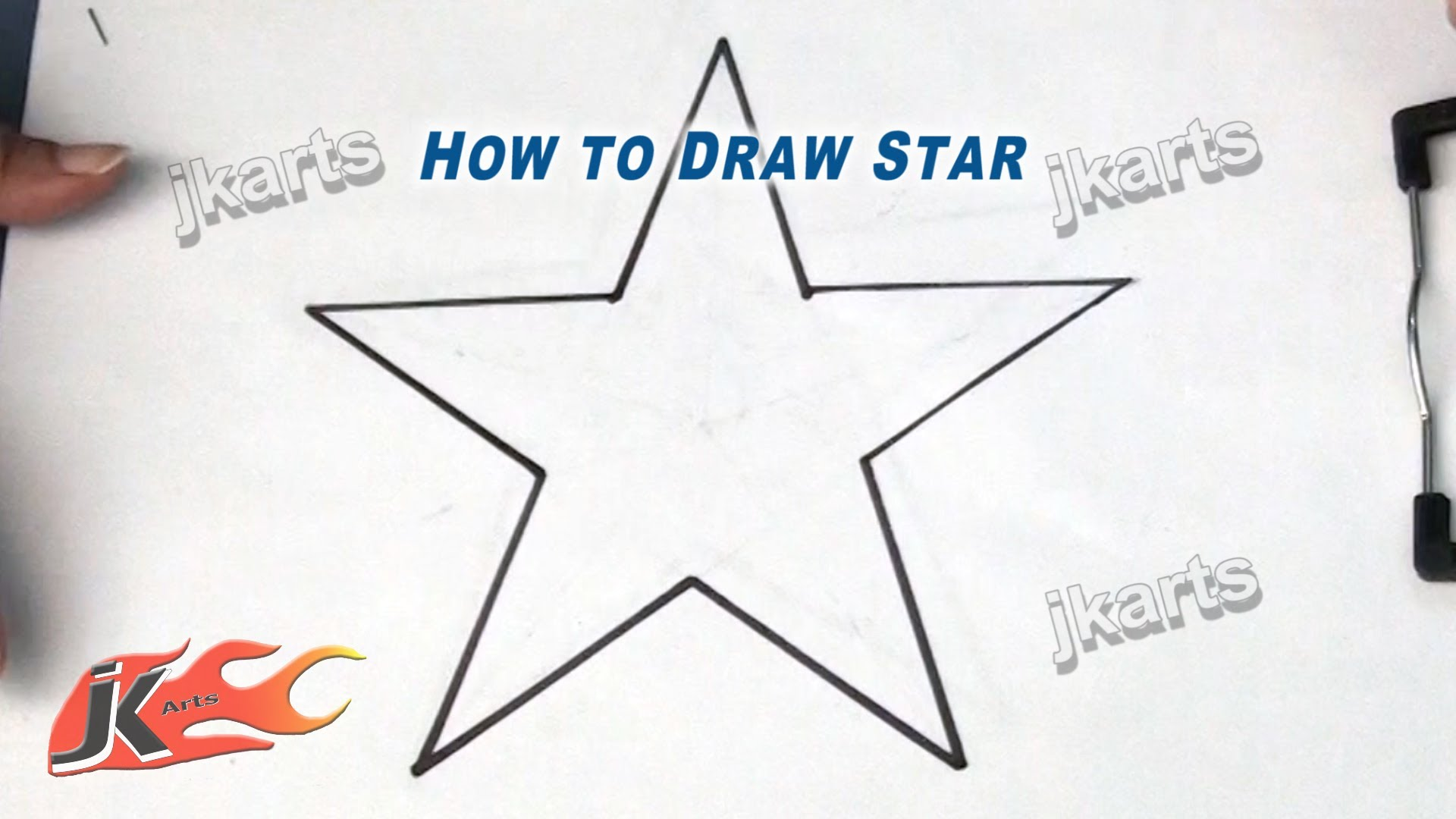 1920x1080 How To Draw Star Drawing For Kids Jk Arts 187