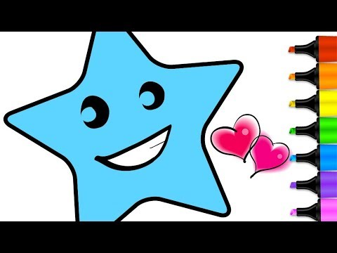 480x360 How To Draw Star Coloring Pages For Kids Learn Colors