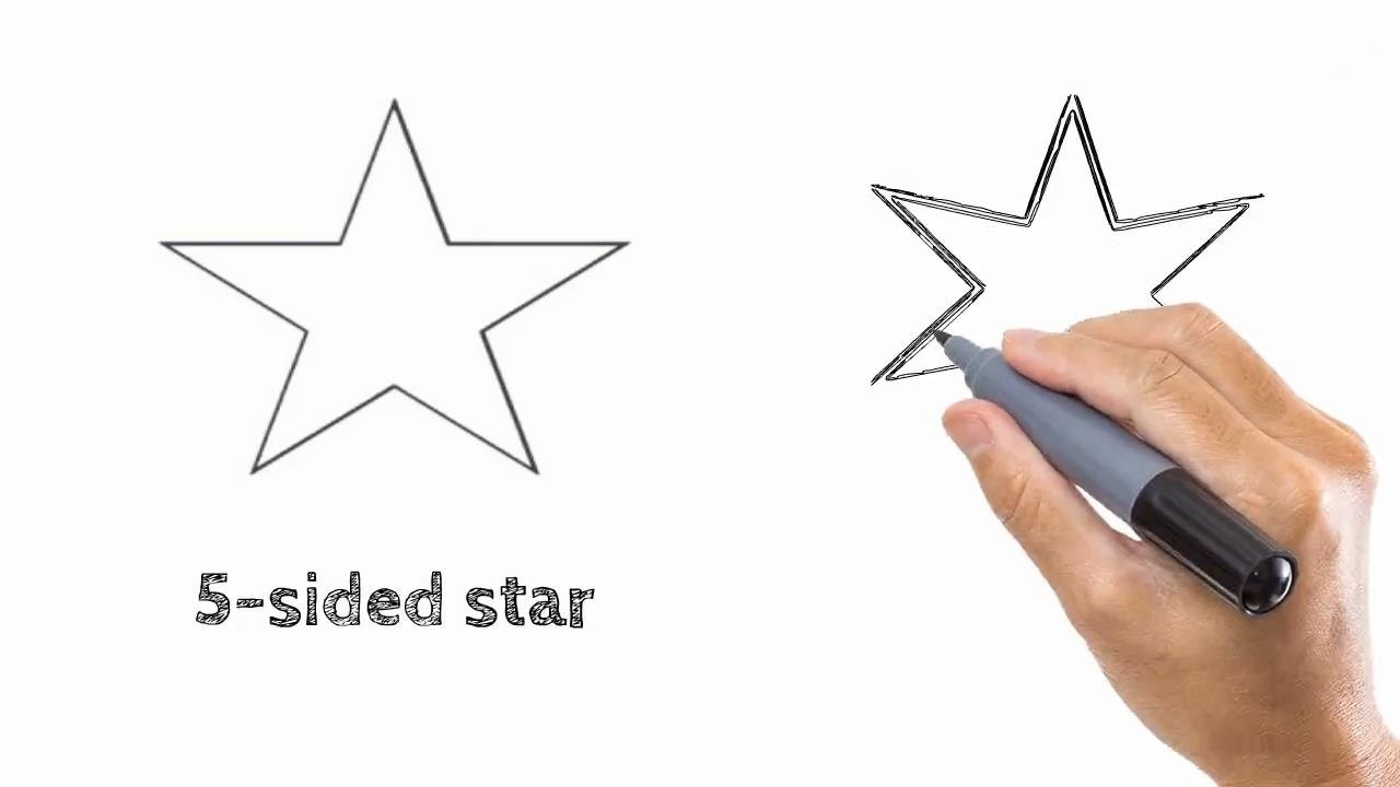 1280x720 How To Draw A Star Easy Drawing Step By Step Tutorials For Kids