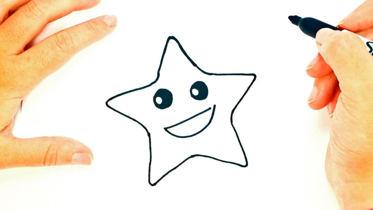 1280x720 How To Draw A Star For Kids Star Drawing Lesson Step By Step