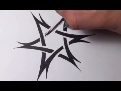 480x360 Drawing A Tribal Star Of David Tattoo Design