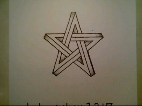 480x360 How To Draw The Impossible Star Easy 3d Optical Illusion Shape