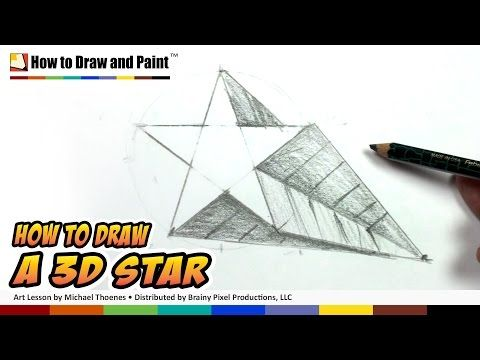 480x360 How To Draw A 3d Star Shape