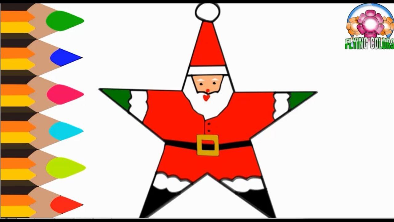 1280x720 Santa Claus, How To Draw Santa Claus In Star Shape, Draw Star