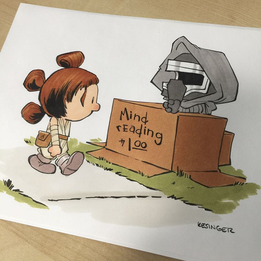 880x880 Disney Illustrator Combines Star Wars And Calvin Amp Hobbes, And