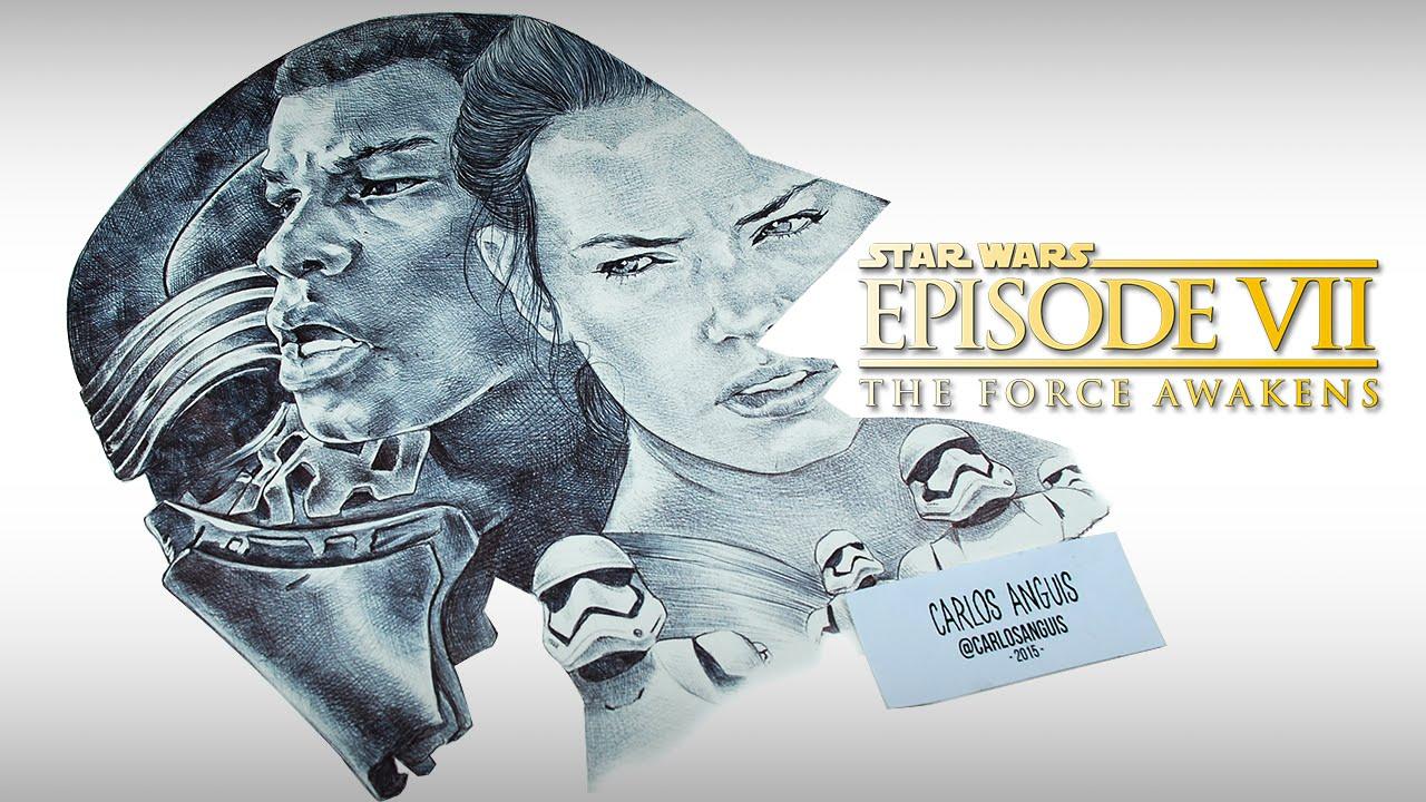 1280x720 Drawing Star Wars Episode Vii