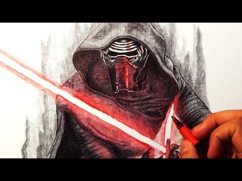 480x360 Kylo Ren Star Wars Drawing