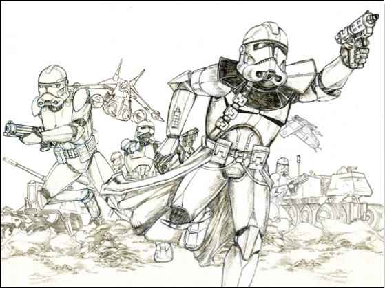 559x419 Star Wars Drawings