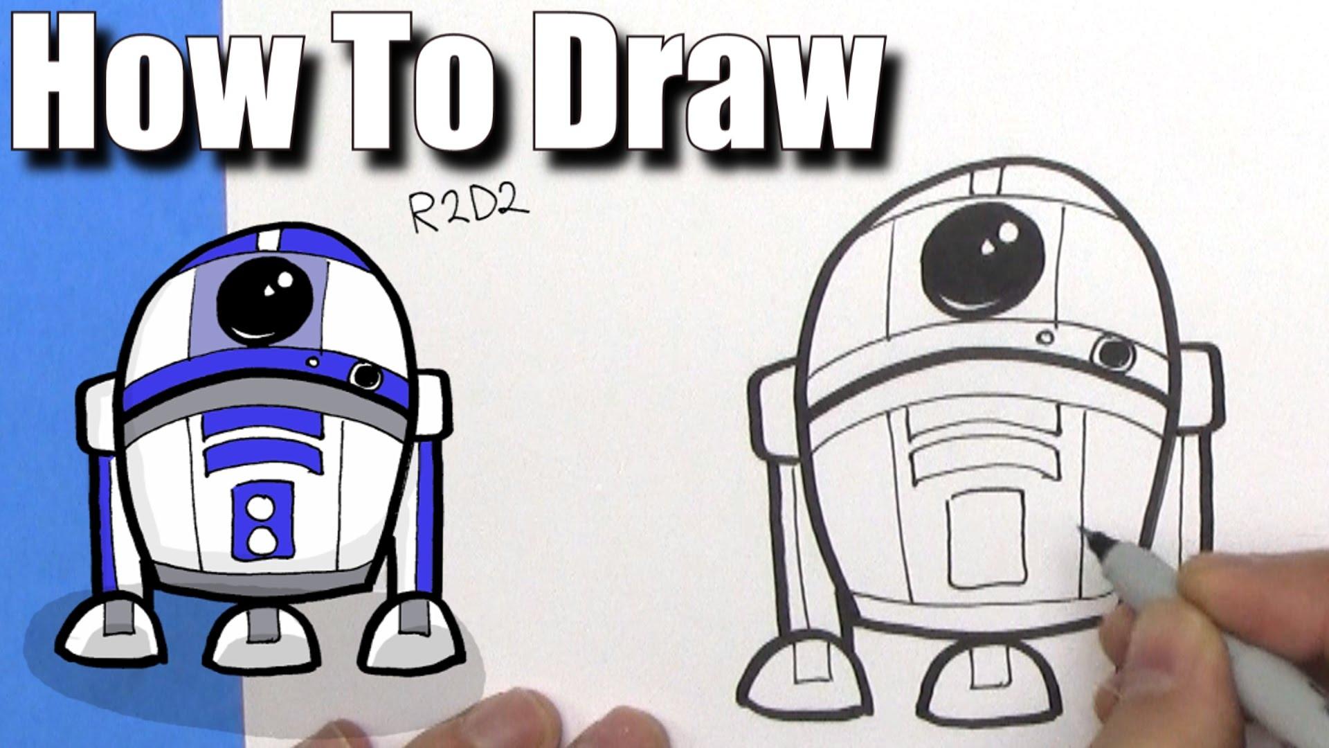 1920x1080 How To Draw Cute Cartoon R2d2 Droid