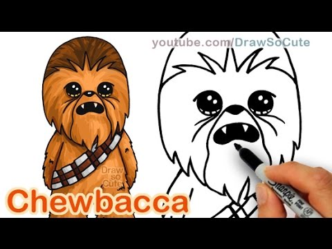 480x360 How To Draw Star Wars Chewbacca Cute Step By Step Easy