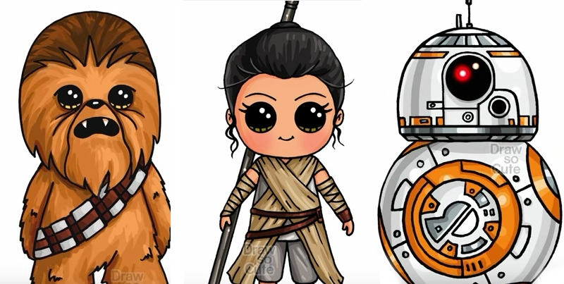 800x403 Learn How To Draw Your Favorite Star Wars Characters Craft Kiddies