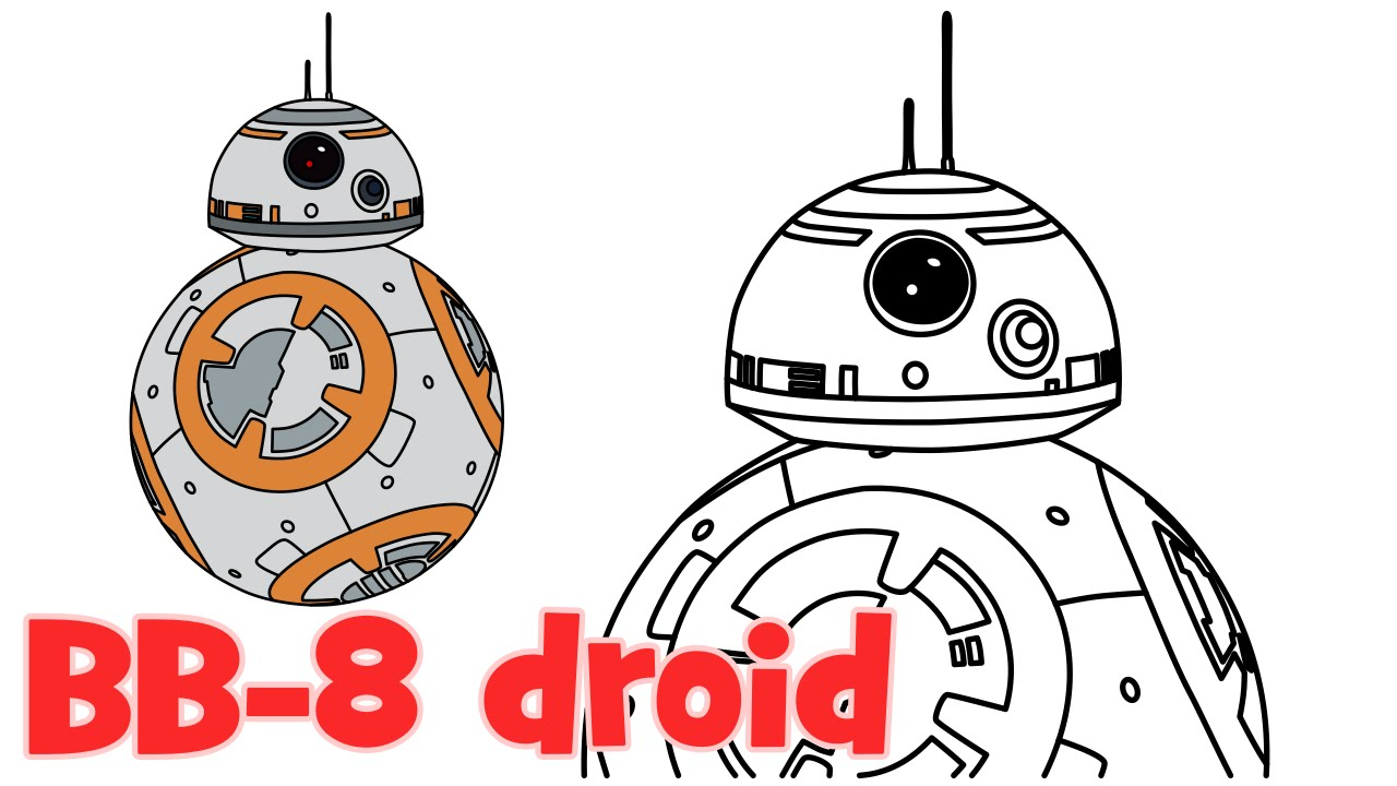 1280x720 How To Draw Bb 8 Star Wars Episode 7 Characters Step By Step Easy
