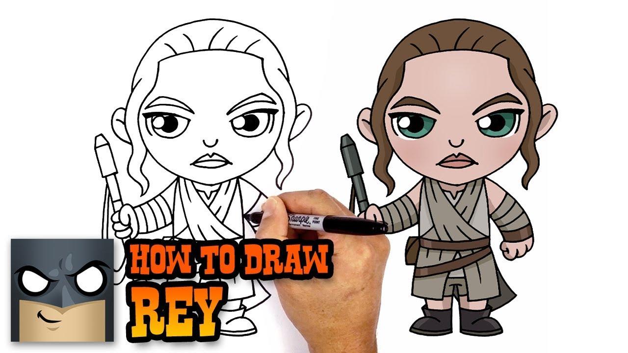 1280x720 How To Draw Rey Star Wars
