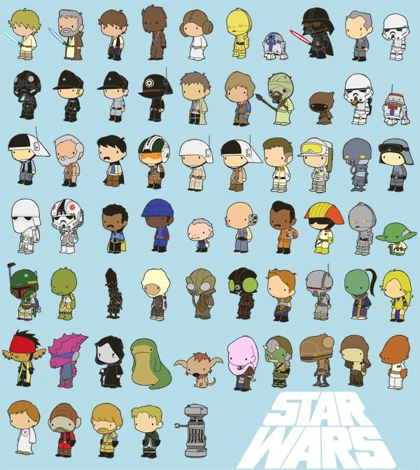600x670 Miniature Star Wars Characters