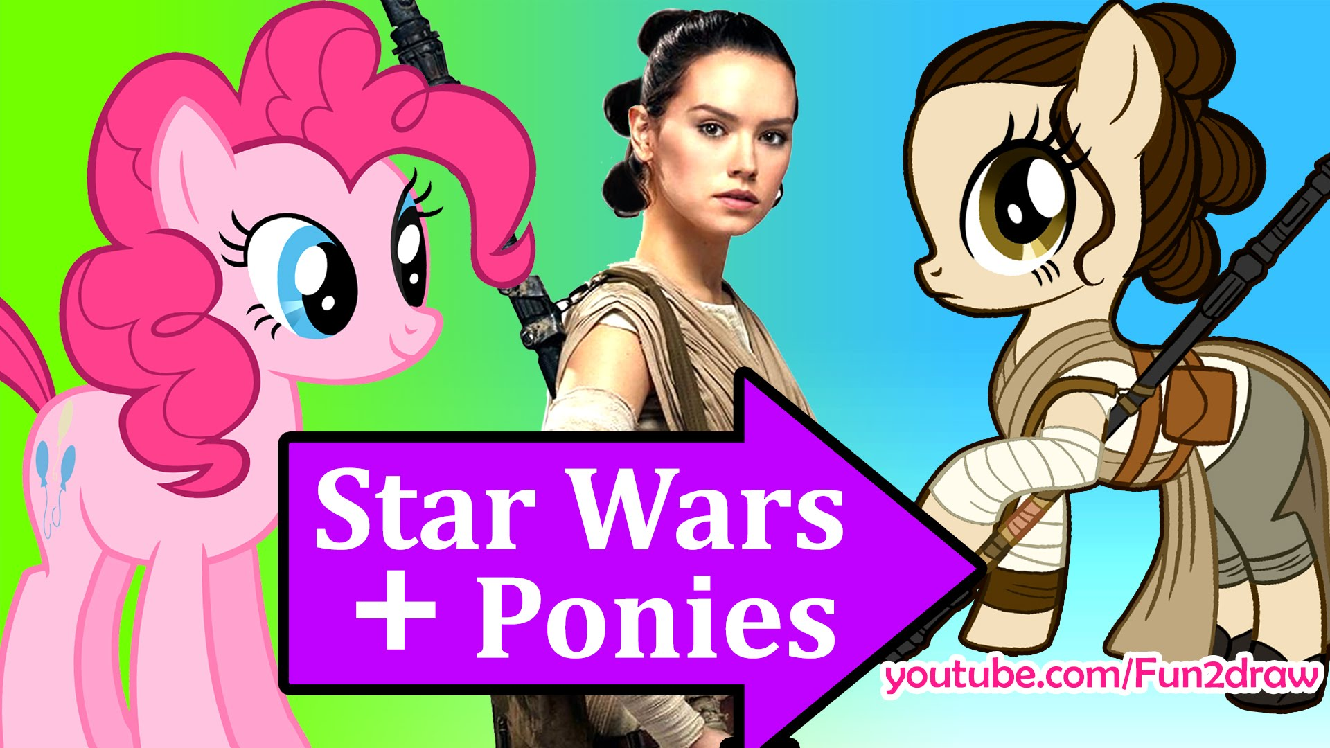 1920x1080 Draw Star Wars Characters As My Little Pony Mash Up Fun Art By