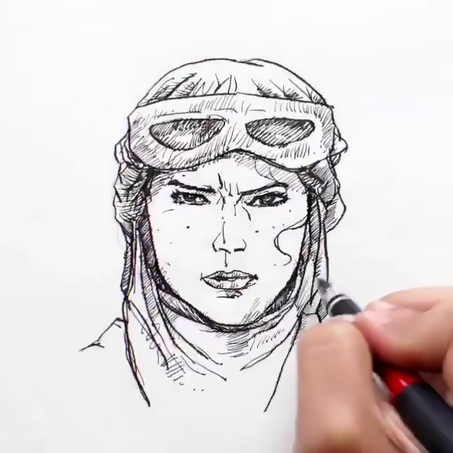 640x641 Drawings Of Star Wars The Force Awakens Characters Come To Life