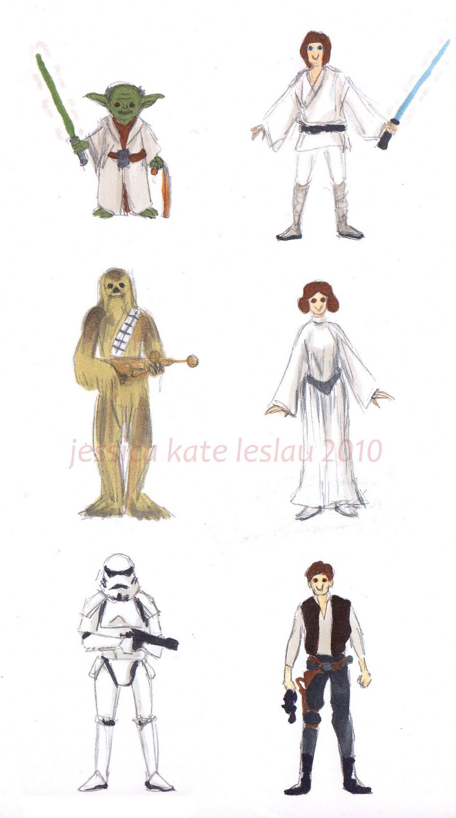 892x1600 Star Wars Characters Drawings Drawing Star Wars Characters Time