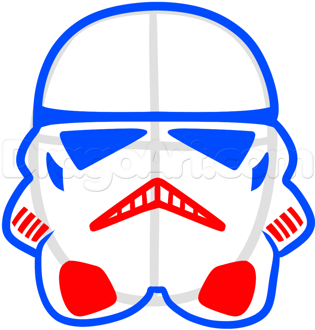 1042x1091 Easy To Draw Star Wars Characters How To Draw A Stormtrooper