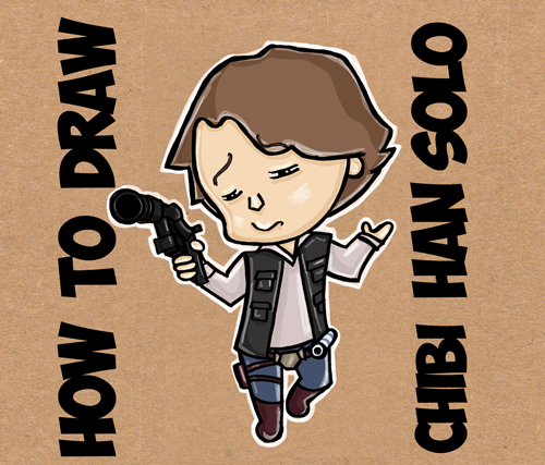 500x427 How To Draw Chibi Cartoon Han Solo From Star Wars Step By Step