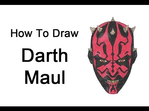 480x360 How To Draw Darth Maul (Star Wars)