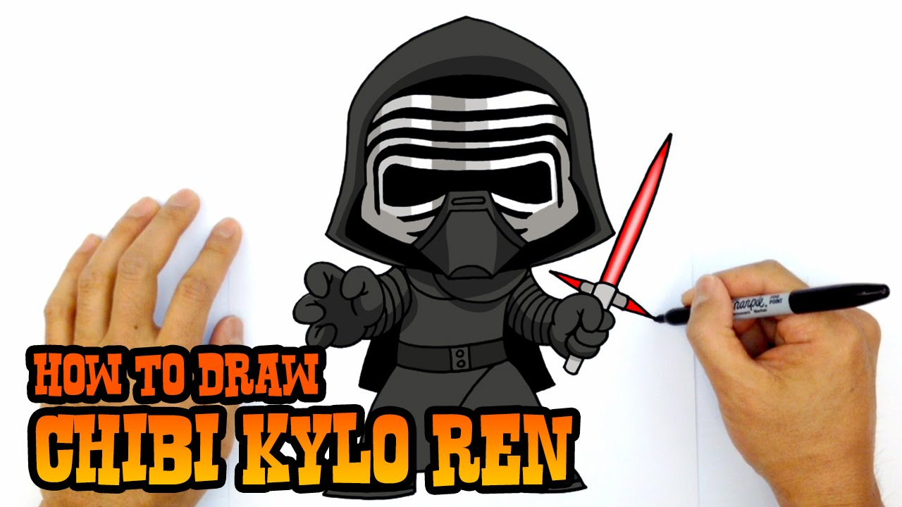 1280x720 How To Draw Kylo Ren Star Wars