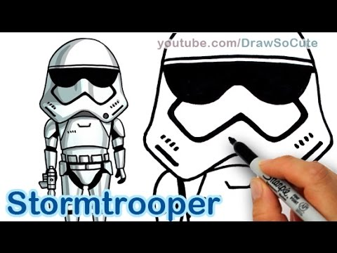 480x360 How To Draw Star Wars Stormtrooper Cute Step By Step The Force