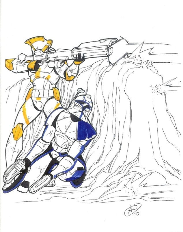 634x800 Captain Rex And Commander Cody Comic Art By Adam Withers Star