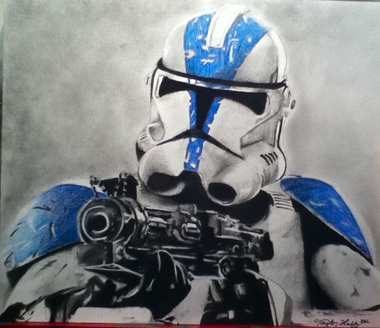 765x661 Clone Trooper Drawing A Drawing I Did For A Best Friend