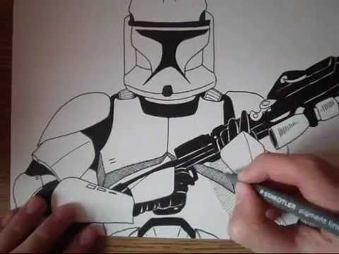 480x360 How To Draw A Clone Trooper From Star Wars Show Middle School