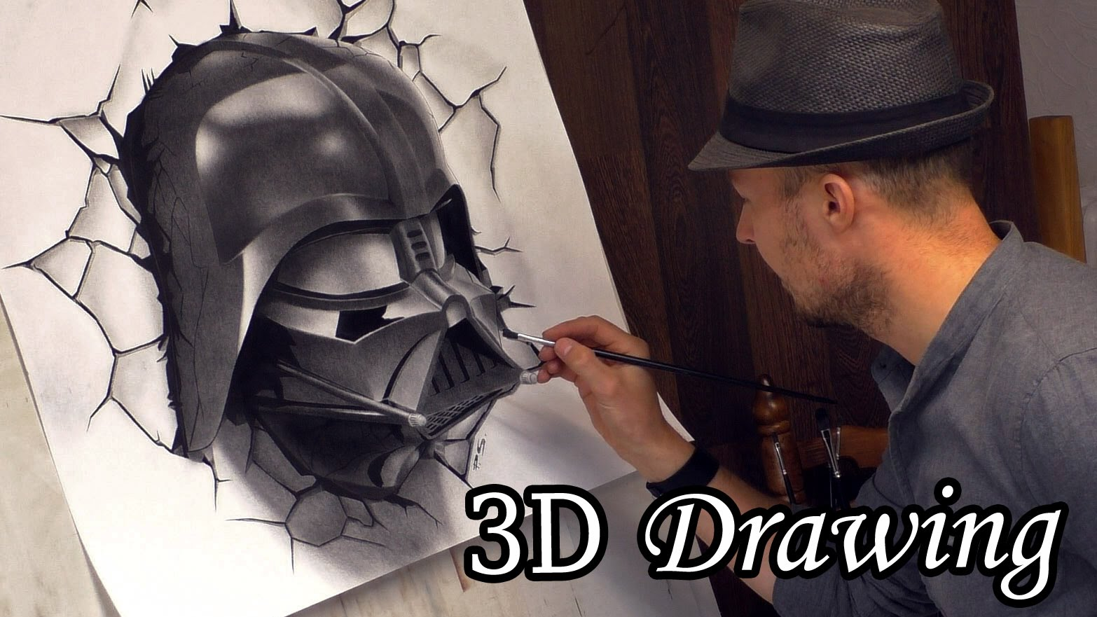 1566x881 Darth Vader Busts Out In Star Wars 3d Speed Painting